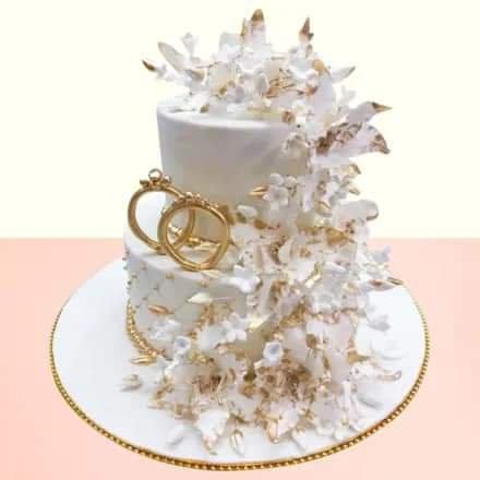Creamy creation wedding cake