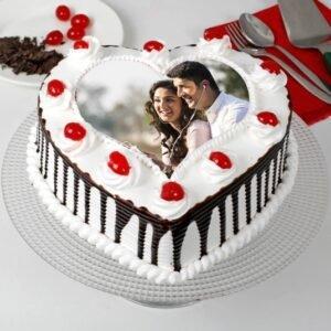 Heart Shaped Black forest cake
