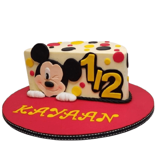 mickey mouse 6 month birthday cake